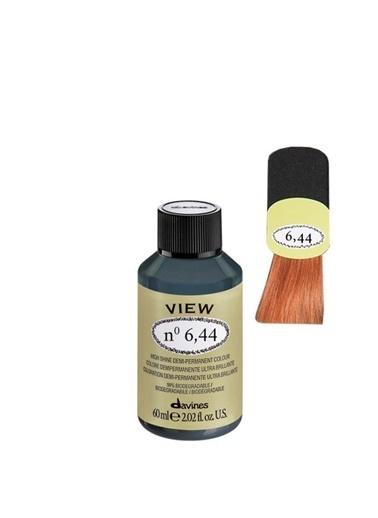 Davines Davines View Yarı Kalıcı Saç Boyası 6,44 Koyu Kumral Yogun Bakır 60 Ml Renksiz